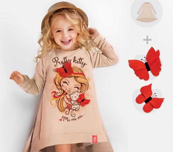 Платье-свитшот Pretty Kitty